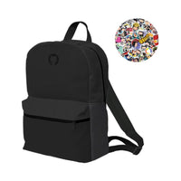 Sticker Print Backpack