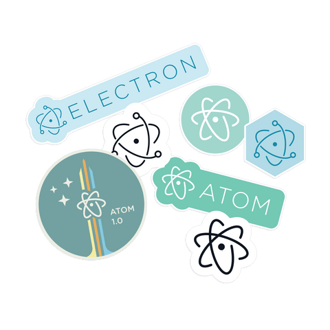 Atom + Electron Stickers