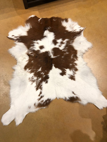 Brown & White Calf Hide