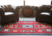 Load image into Gallery viewer, Old Crow Area Rug - Red