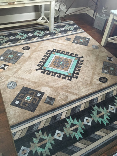 Wild Whiskey Area Rug - Mint