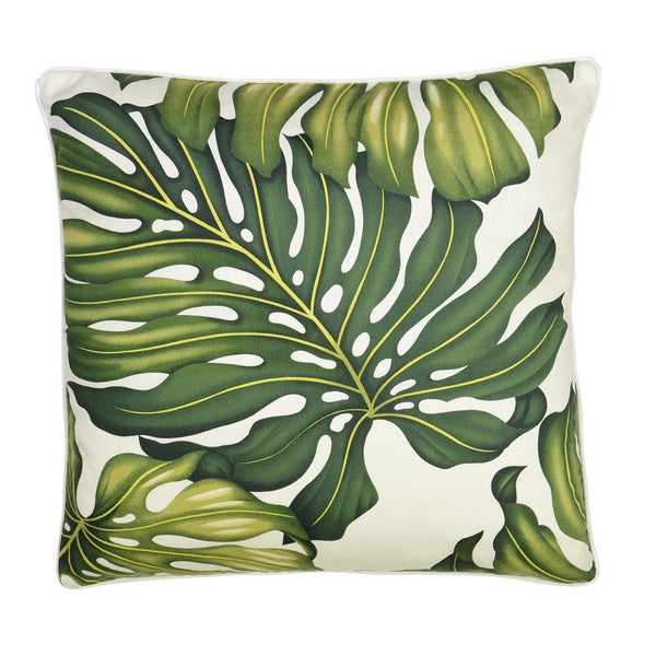 Cushion Reversible Monstera Leaf Cream / Black