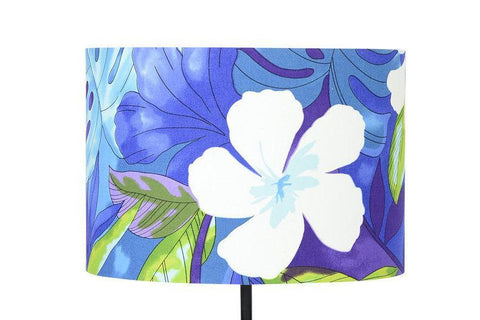 Lampshade Tropical Blue Fabric