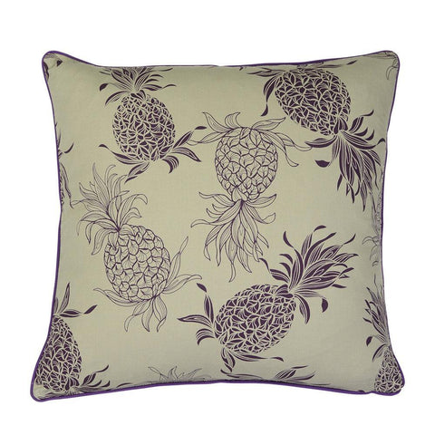 Cushion Purple Pineapple Taupe