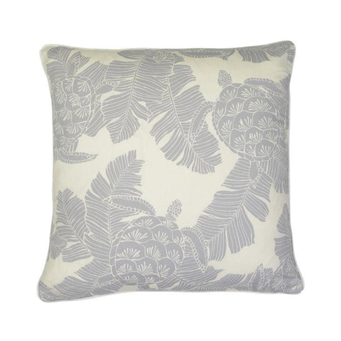 Cushion Turtle Silver Grey Reverse