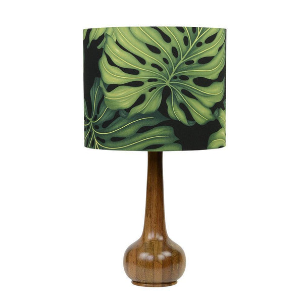 Lampshade Monstera Leaf on Black