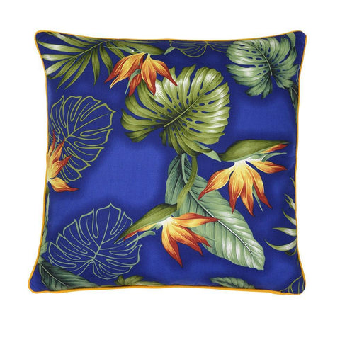 Cushion Chloe Royal Blue Tropical Birds of Paradise