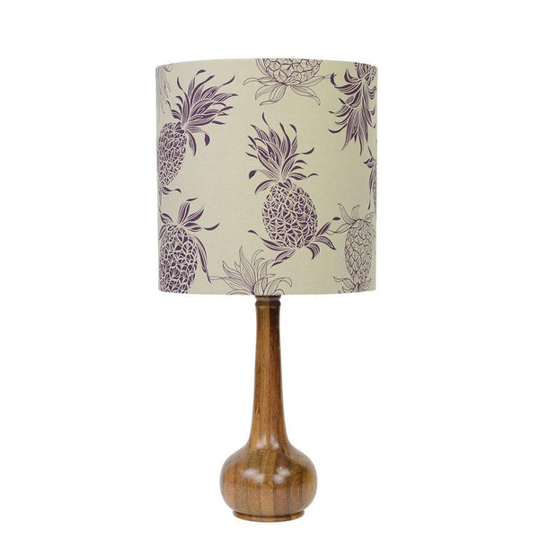 Lampshade Purple Pineapple Taupe