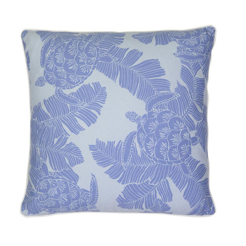 Cushion Turtle Blue with white piping