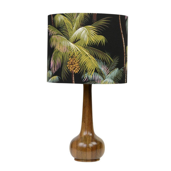 Lampshade Palm Trees on Black