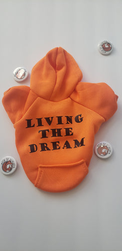 Living the Dream Fur Kid Hoodie