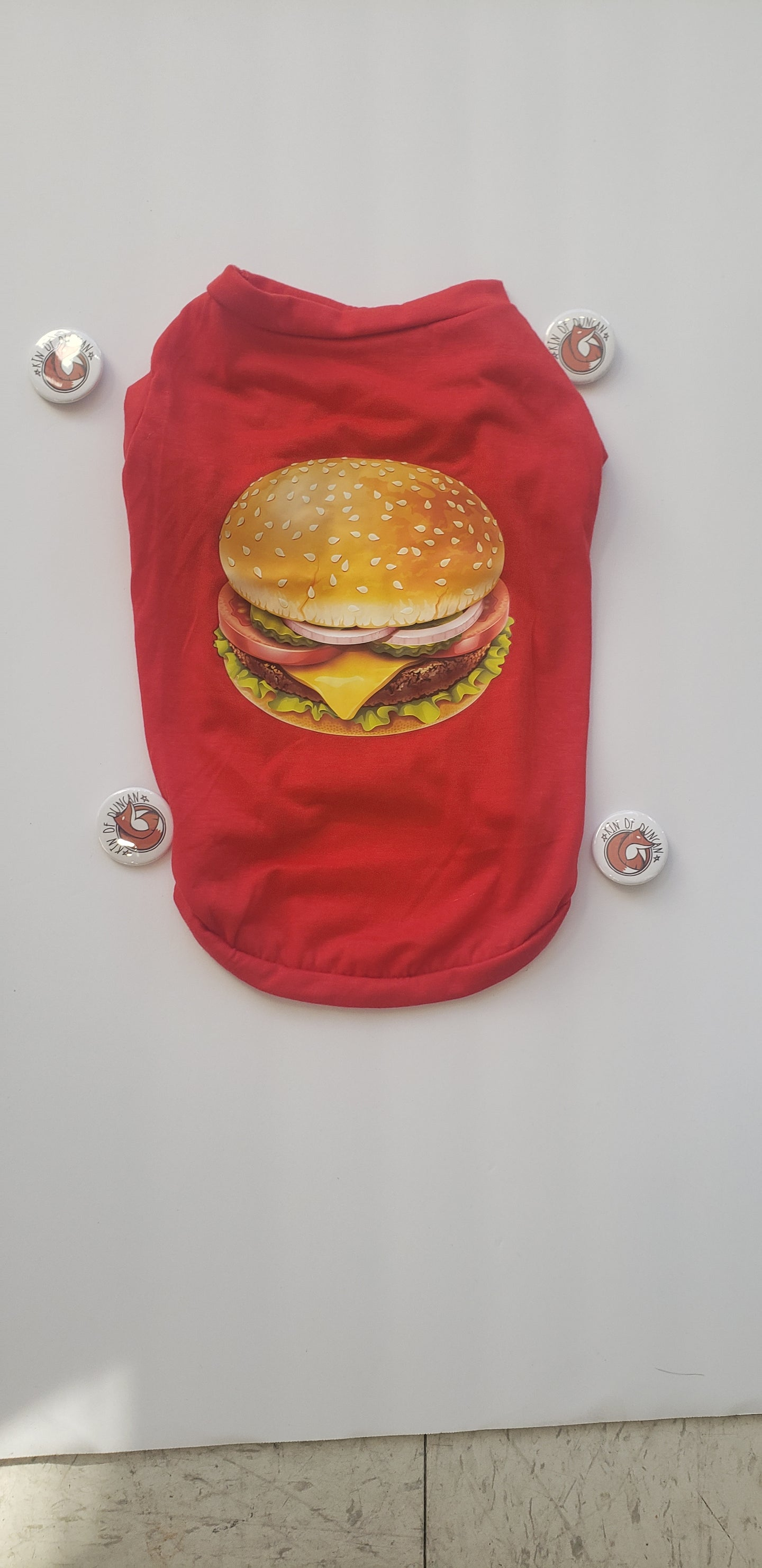 Hamburger Graphic Fur Kid T-Shirt