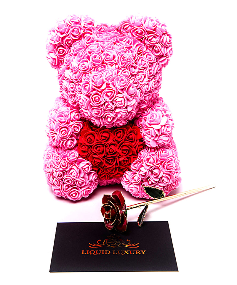 Bear Bouquet Bundle in Passionate Pink