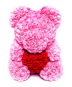 Bear Bouquet in Passionate Pink