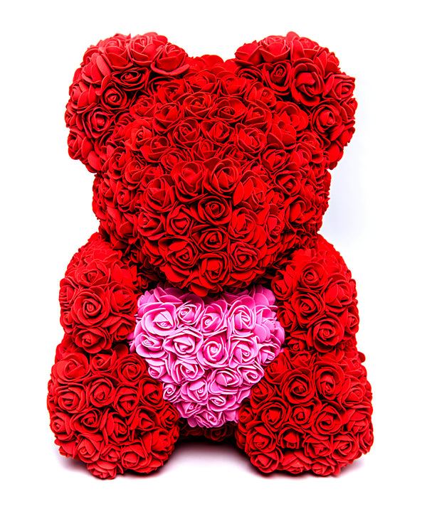 Bear Bouquet in Ruby Red