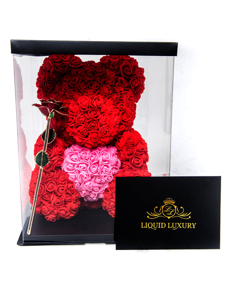 Bear Bouquet Bundle in Ruby Red