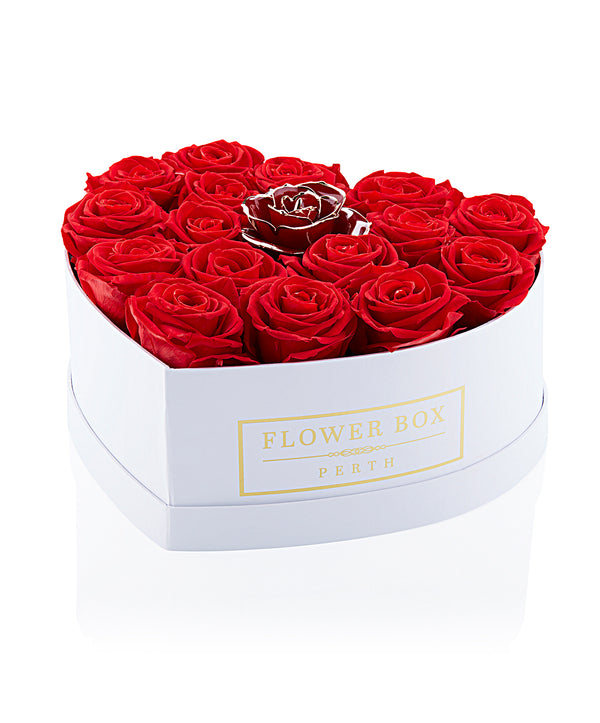 The Queen Of Hearts Flower Box