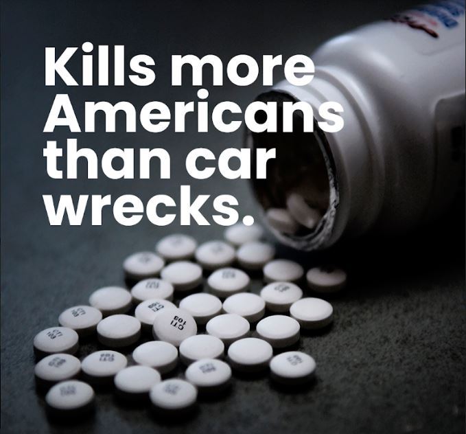 Did you know american's are more likely to die of opioid overdose than in a car crash?