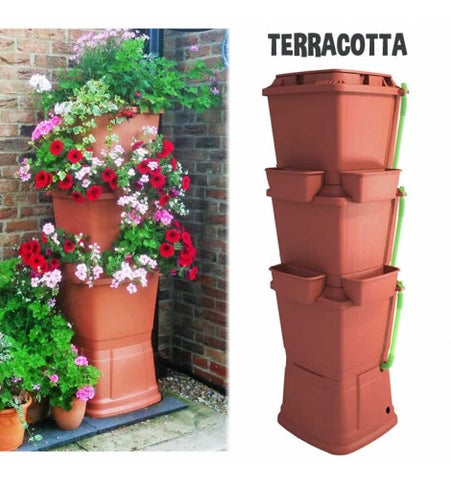GutterMate Rainwater Terrace Water Butt Planter 200L - 3 Tier