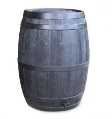 GutterMate Oak Wood Effect Barrel Water Butt 235L with Black Band