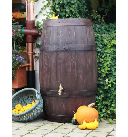 GutterMate Barrique Oak Wood Effect Barrel Water Butt 250L