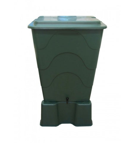 GutterMate Square Water Butt 240L with stand - Green
