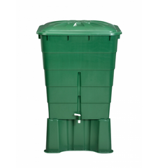 GutterMate Square Water Butt 300L with Stand - Green