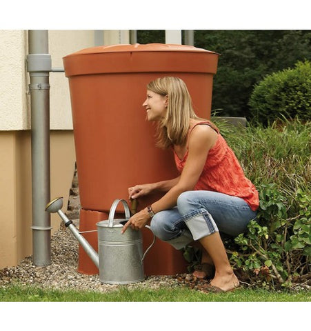 GutterMate Toscana Water Butt 300L with Stand - Terracotta