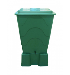 GutterMate Square Water Butt 310L with Stand - Green