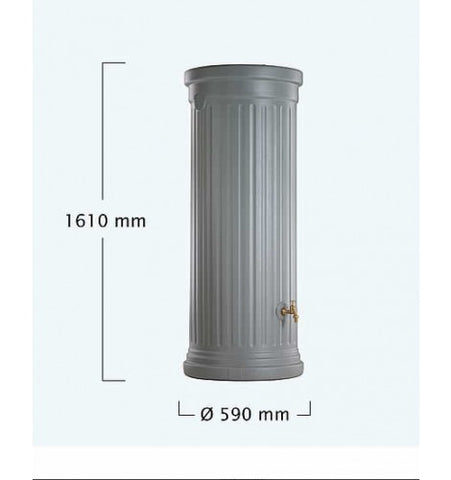 Original Organics Column Water Tank 330L - Stone Grey