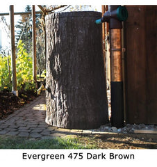 GutterMate Evergreen Tree Trunk Water Butt 475L - Dark Brown