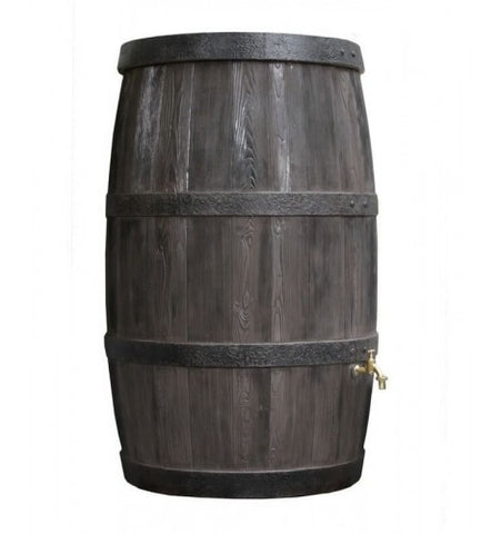 GutterMate Wood Effect Water Butt Barrel 500L - Dark Oak