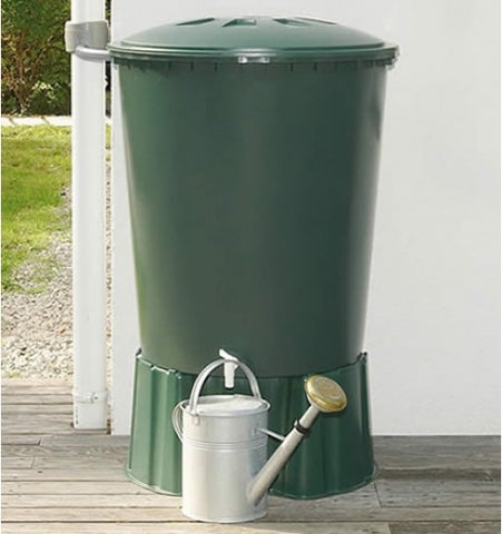 GutterMate Round Water Butt 510L with Stand - Green
