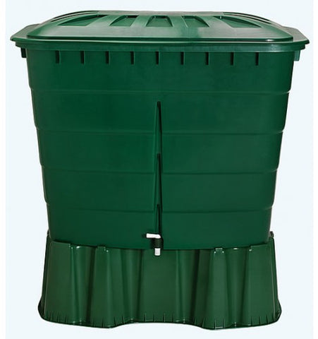 GutterMate Square Water Butt 510L with Stand - Green