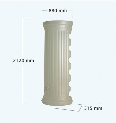 GutterMate Column Wall Water Tank 550L