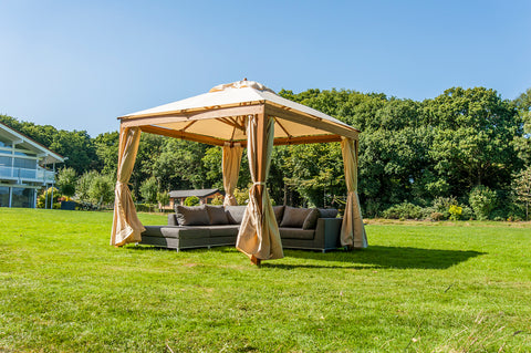 Bambrella Alize with Curtians 3m Square Polyester Parasol