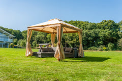 Bambrella Alize with Curtians 3m x 4m Rectangle Polyester Parasol