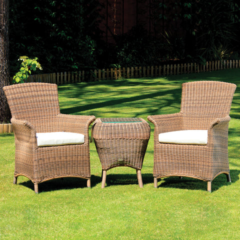 Cozy Bay® Panama Rattan Classic 2 Seater Tea for Two Set in 4 Seasons