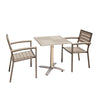 Image of Sol Bistro® Syn-Teak™ 2 Seater Tea For Two Set in Dark Walnut