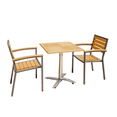 Sol Bistro® Syn-Teak™ 2 Seater Tea For Two Set in Teak Asian