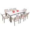 Image of Sol Bistro® Syn-Teak™ 8 Seater Rectangle Dining Set in Dark Walnut