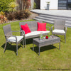 Image of Oseasons® Winchester Rattan 4 Seater Lounge Set in Walnut Natural