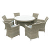 Image of Oseasons® Eden Rattan 6 Seater Dining Set in Chic Walnut