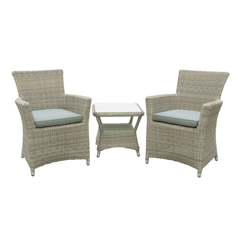 Oseasons® Eden Rattan 2 Seater Tea for Two Set in Chic Walnut