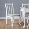 Image of Oseasons® Provence Birch 4 Seater Dining Set in White with Rect. 4-6 Seat Extending Table