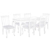 Image of Oseasons® Provence Birch 6 Seater Dining Set in White with Rect. 6-8 Seat Extending Table