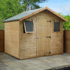 Image of Mercia Premium Shiplap T&G Apex Shed - W8ft x D6ft