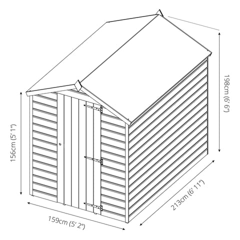 Mercia Premium Workman Apex Shed - W5ft x D7ft