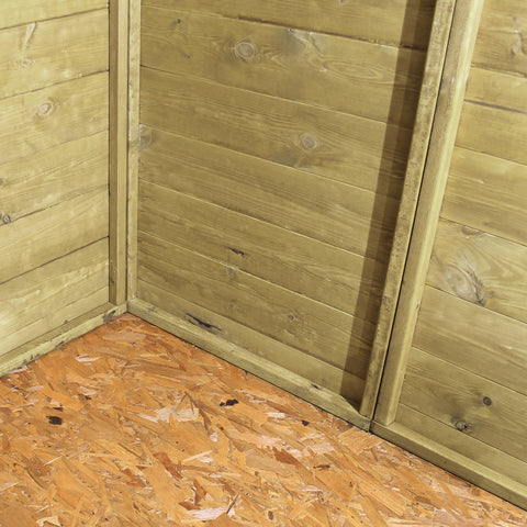 Mercia Pressure Treated Apex Shed - W8ft x D10ft