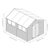 Image of Mercia Pressure Treated Apex Shed - W8ft x D10ft